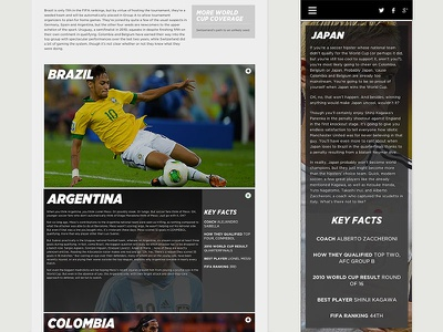 SB Nation 2014 World Cup Draw Preview soccer futbol sports sb nation type responsive desktop mobile bold layout web design