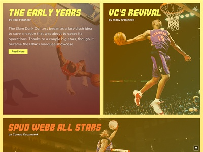 Soul of the Dunk Contest web responsive typography basketball sports color overlay
