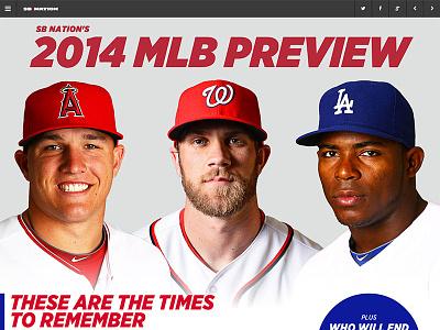 SB Nation's 2014 MLB Preview sports mlb baseball web design preview