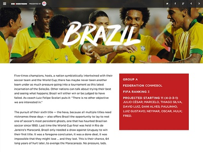2014 SB Nation World Cup Guide world cup soccer futbol brazil product guide preview design branding type handwritten brush
