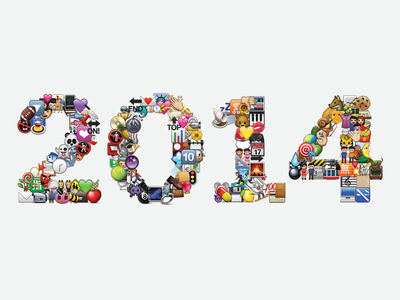 The Year in Emoji 2014 emoji collage illustration :heart: