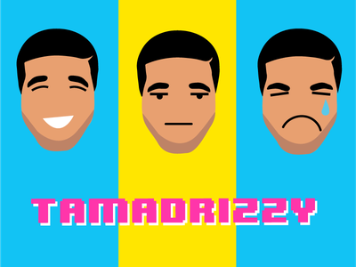 TamaDrizzy comedy hackathon character pink gaming 8bit app portrait illustration drake