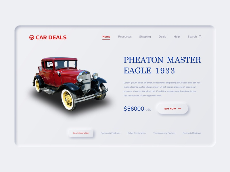 Ecommerce Landing page design best illustration sell web design car parthipanmds vintage red animation dribbble ux ui app
