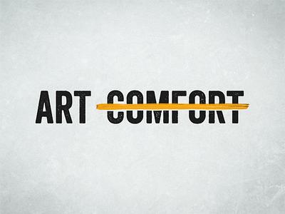 Art Before Comfort vector branding logo