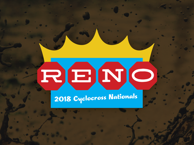 Reno Cyclocross Nationals design cyclocross logo illustration