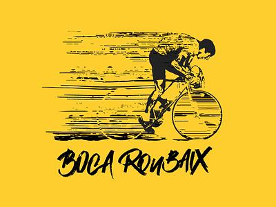 Boca Roubaix apparel logo design cycling illustration