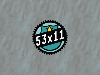 53x11 Logo apparel design logo illustration