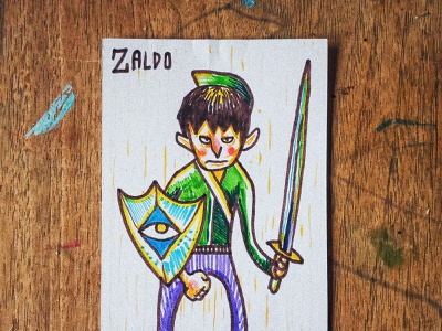 The Saga of Zaldo - Sigh of the Jungle painting illustration
