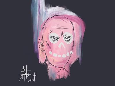 Head Bones 3 skull procreate illustration