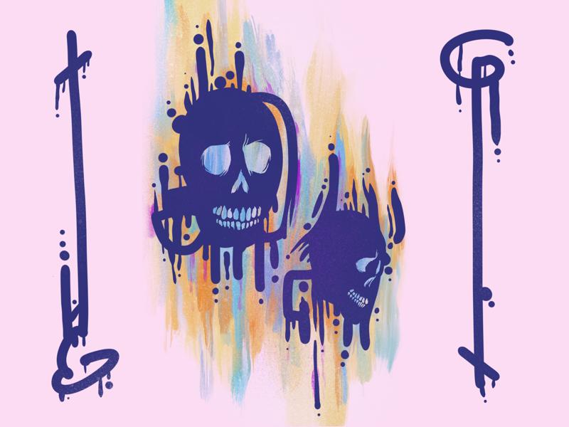 Head Bones 4 procreate illustration