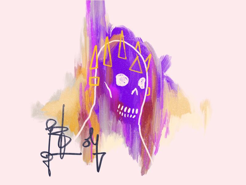 Head Bones 5 skulls procreate illustration