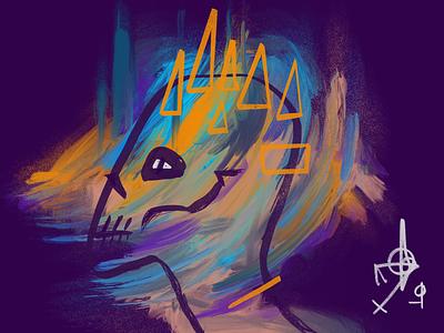Head Bones 6 skulls procreate illustration