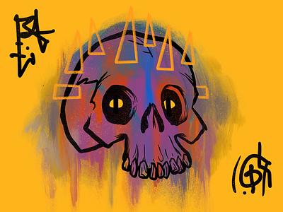 Head Bones 7 skulls procreate illustration