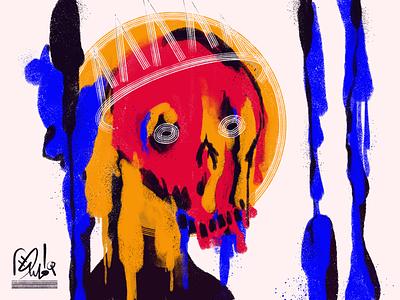 Head Bones 10 skulls procreate illustration