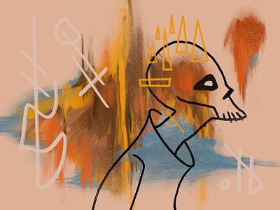 Head Bones 9 skulls procreate illustration