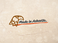 Made in Asheville. branding vector logo illustration