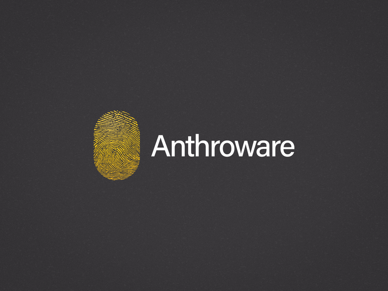 Anthroware Logo mark branding fingerprint thumbprint illustration logo