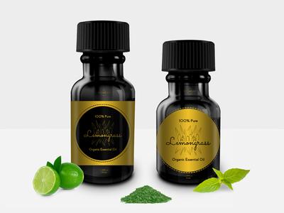 Lemongrass Organic Essential Oil wrapper wrap graphicdesign labelsdesign labels illustration design label design label essential oil graphic art oil