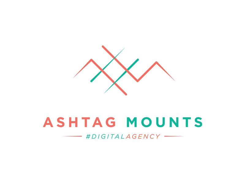 Logo design for a digital Agency hashtag minimalist logo minimalist vector illustrator digital agency graphic  design flat minimal logodesign logo