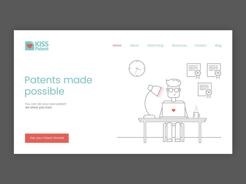 Kiss Patent laptopworking laptop graphicdesign graphic designinspiration web interfacedesign interface webdeveloper webdesigner illustration userinterface branddesign uidesign webdesign