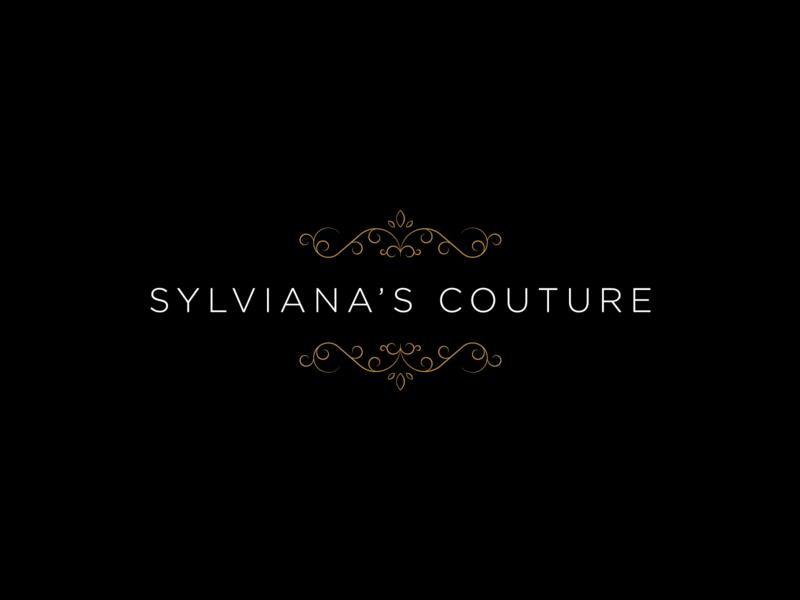 Sylviana's Couture illustration black and gold graphicdesign love crisp bold simple brandart art branddesign brand minimalist minimalistic subtle elegant monogram minimal clean logodesign logo
