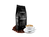 The London Coffee Black bold clean minimal labeldesign label art london coffee bean black branding coffeebranding coffee packaging packagedesign design