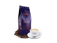 The London Coffee - Ethiopian blackandwhite black symbol icon minimalistic minimal clean orange purple graphicsdesign branddesign coffeepackaging coffeebranding coffee art labeldesign label packagedesign package design