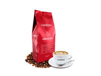 The London Coffee Mexican package design label design bold pure graphic  design red icon symbol label packaging labeldesign packagedesign coffeepackaging coffeebranding coffee minimalist minimal clean branddesign art
