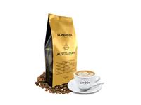 The London Coffee - Australian - Gold branddesign brand clean minimalism minimalist minimal label label mockup label packaging label design package packagedesign design black and gold black gold australian australia coffee art