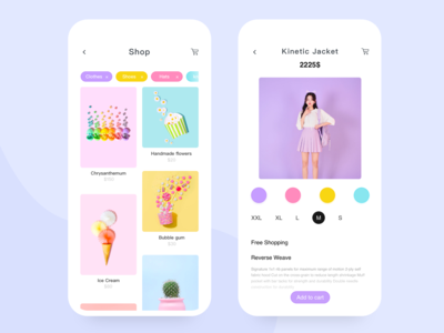 Pinkycolor App design