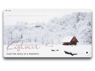 UI Shot - Podcast on Kashmir! podcast art cold snow podcast concept website concept podcast kashmir typography website ux design ux ui design user experience illustrator illustration minimal design