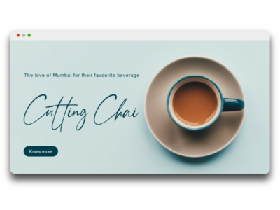 Cutting Chai - Minimal UI Shot minimal concept website idea website concept illustration flat minimal design ux chai ui