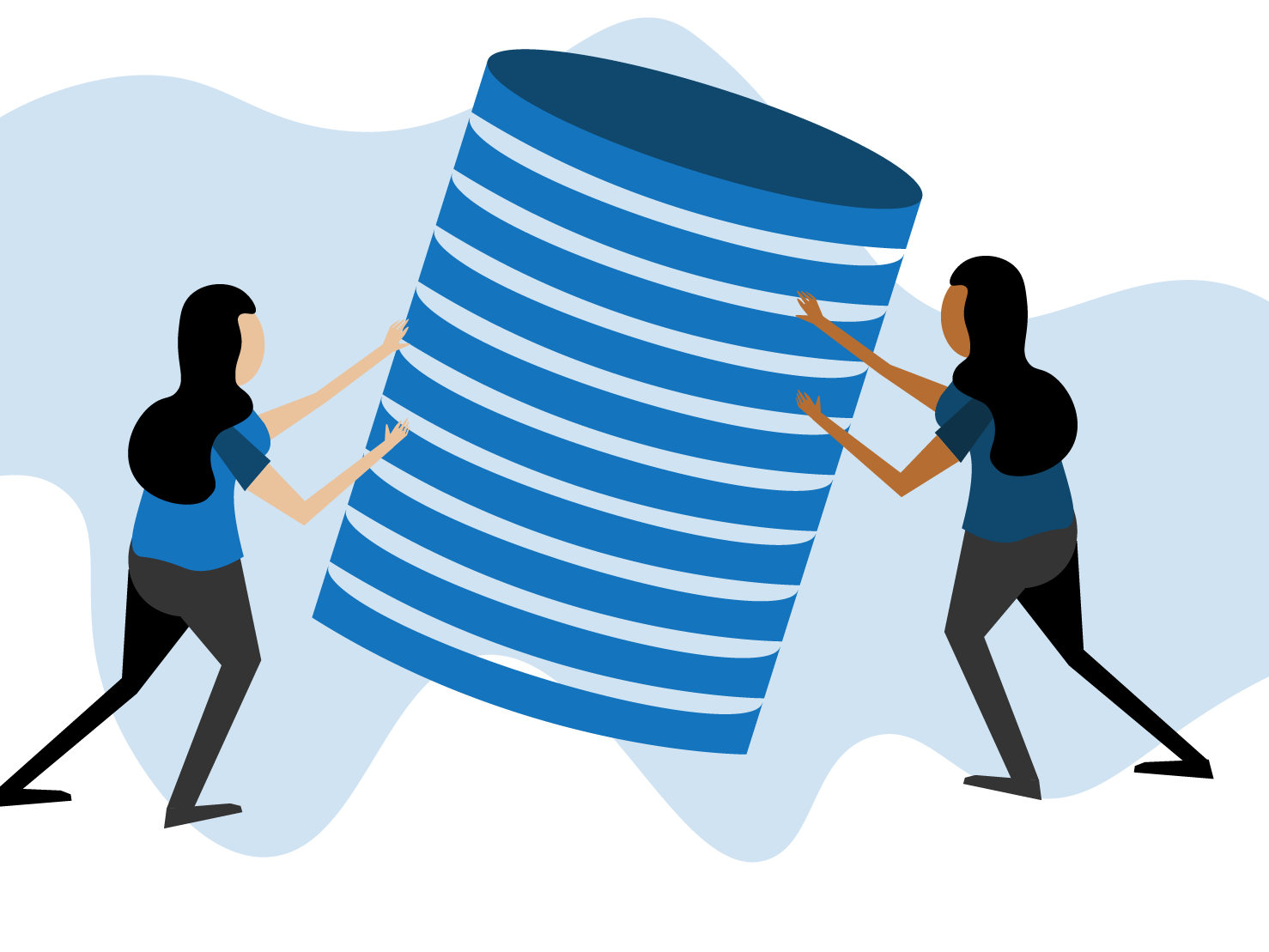 Database Migration Illustration illustrator vector website ux web minimal flat illustration design
