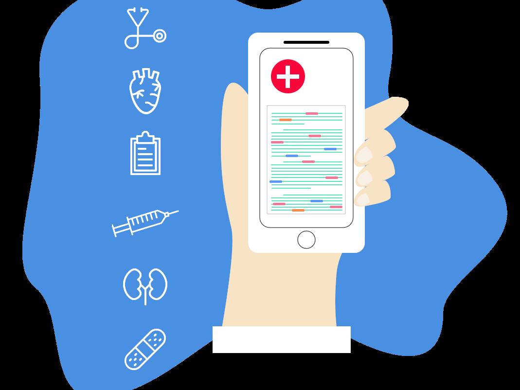Medical Keyword Detection Illustration vector illustrator website web ux minimal illustration flat design