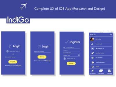 Indigo iOS App Redesign Shots