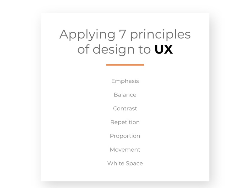 Quick Guide: 7 Principles of Design in UX Design user experience design adobe xd illustrator web flat minimal principles of design 7 principles experience design user user experience ux design ux design