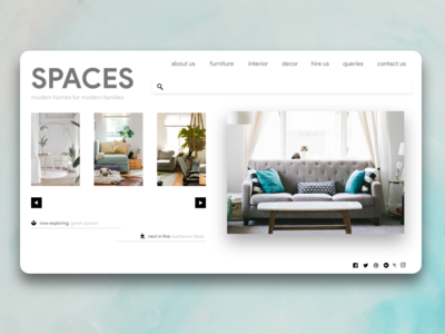 Spaces - A UI Exploration Shot of modern furnishings