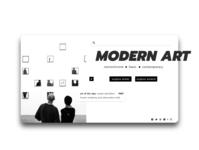 UI SHOT of Modern Art Website