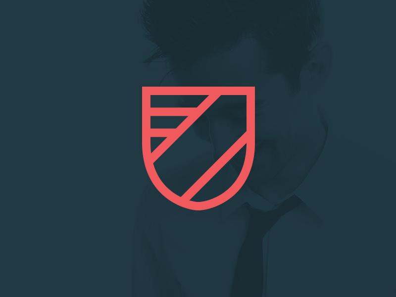 Logomark logo identity mark shield crest sash badge
