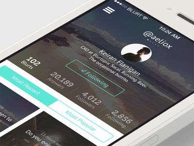 iOS 7 Blurtopia - Profile