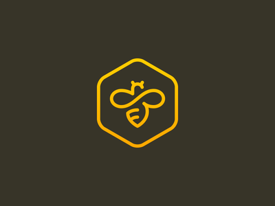 Bumble bee hive logo bumble icon insect buzz