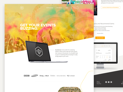 BumbleCast web marketing product page header