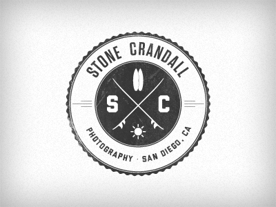 SC Logomark v2 stamp stone surf cross tungsten liberator logo