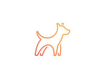 Finley gradient line dog logo icon