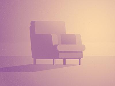 01 chair gradient illustration parallel