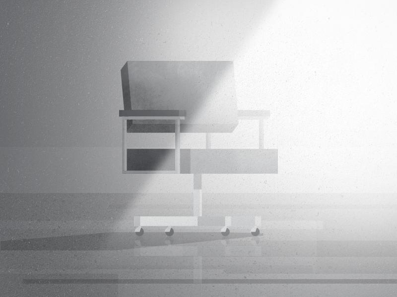 02 chair gradient illustration parallel