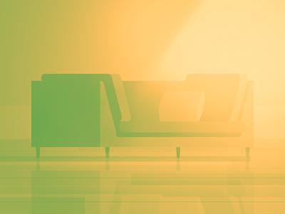 03 chair gradient illustration parallel