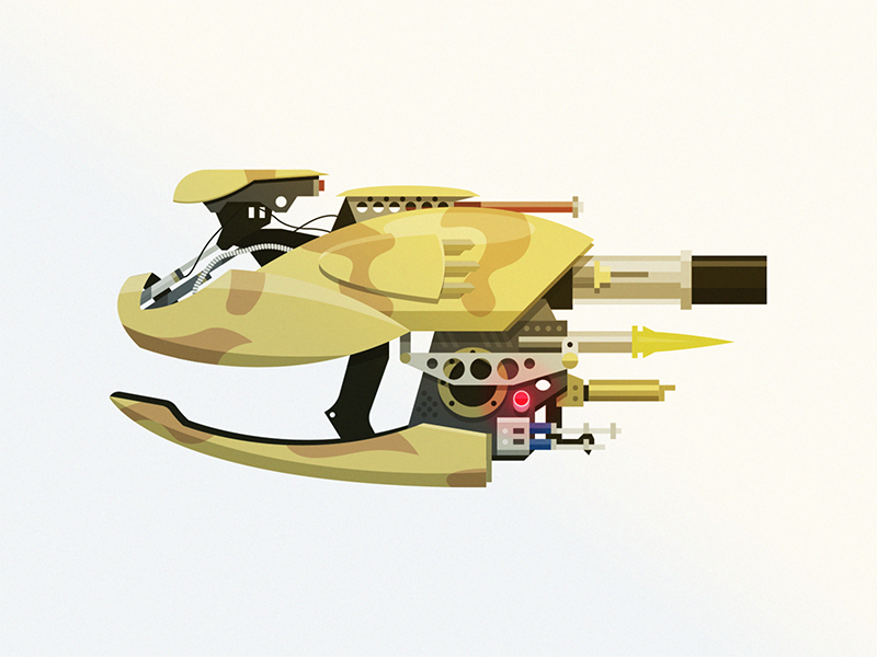 Zorg ZF-1 illustrator fifth element weapon epic armory epicarmory