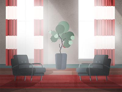 04 office hannibal chair gradient illustration parallel