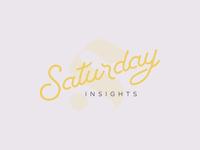 Saturday lettering script logo branding